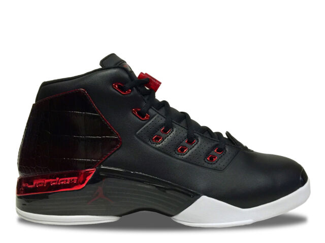 Official quality Mens Air Jordan 17 Retro Bulls Black Gym RedWhite