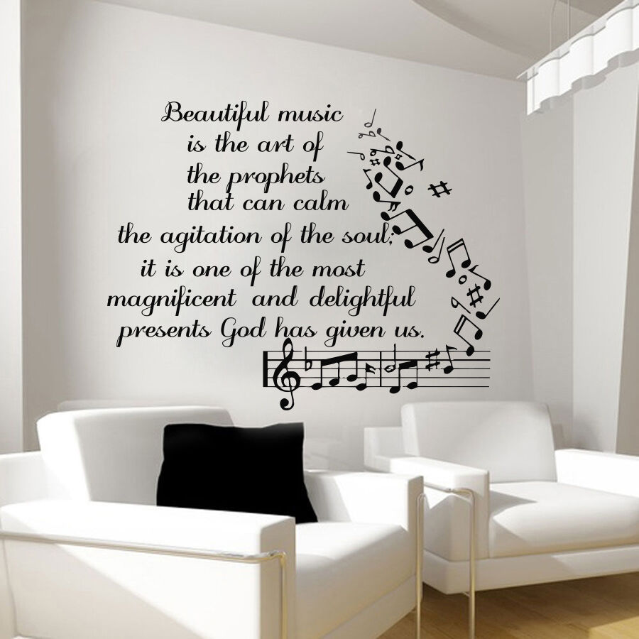 Music Wall Decals Vinyl Notes Decal Butterfly Sticker Nursery - Vinyl wall decals butterflies