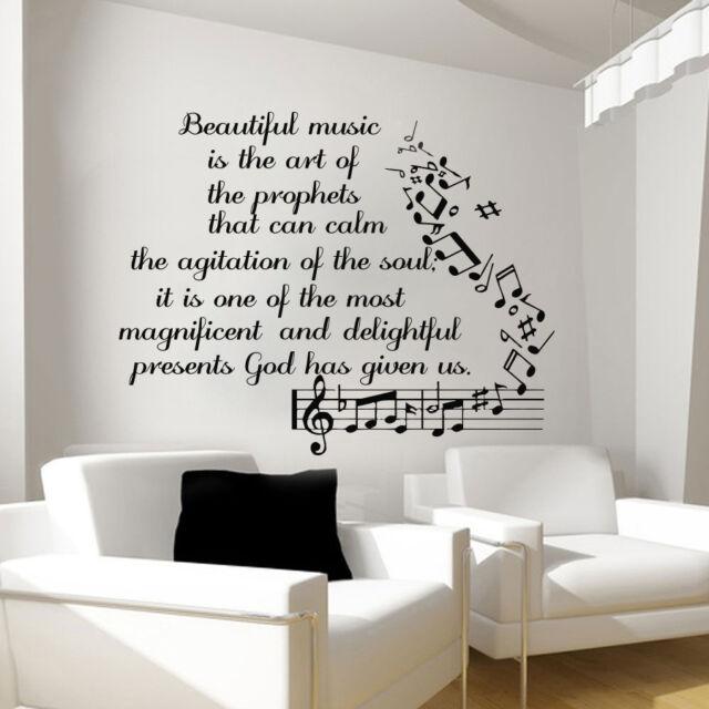 Merveilleux Music Wall Decals Vinyl Notes Decal Butterfly Sticker Nursery Bedroom Art  LM91