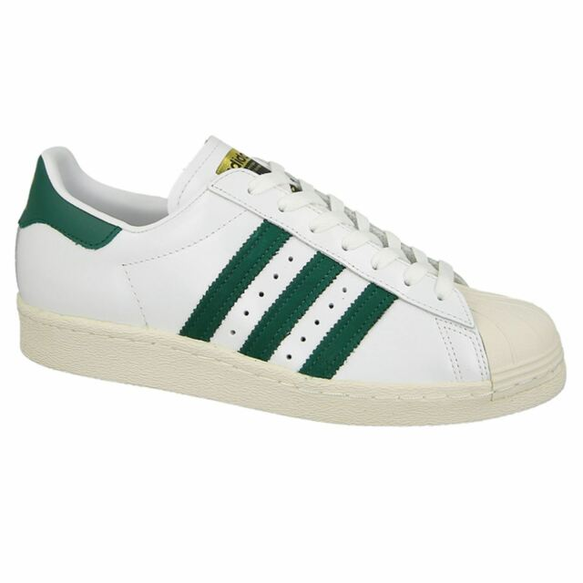 adidas Originals Superstar 80s White Green Men Classic Shoes Sneakers BB2230
