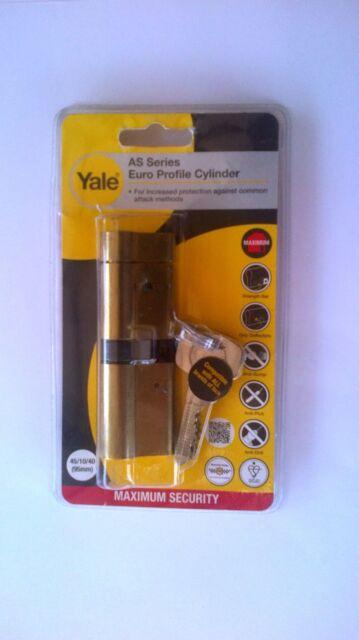 New Yale Euro Profile Cylinder 50 50 Brass Anti Snap Bump Upvc Patio Wood Door