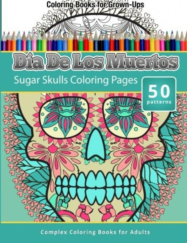 picture 1 of 1 - Day Of The Dead Coloring Book