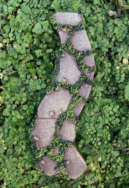 Miniature Dollhouse FAIRY GARDEN ~ Mini Resin Curved Moss U0026 Stone Path  Walkway