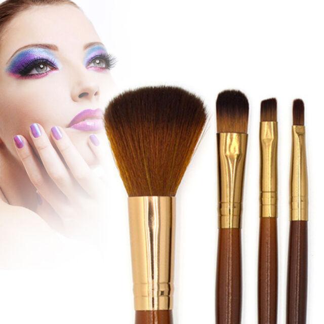 New Professional Soft 4Pcs Makeup Eyeshadow Blush Foundation Power Brush Set Kit