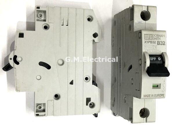 DORMAN SMITH 32 AMP TYPE B 32A SINGLE POLE / PHASE MCB CIRCUIT BREAKER X1PB32