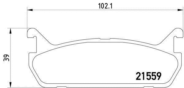 MDB1414 M1144 MINTEX Brake Pad Set disc brake rear