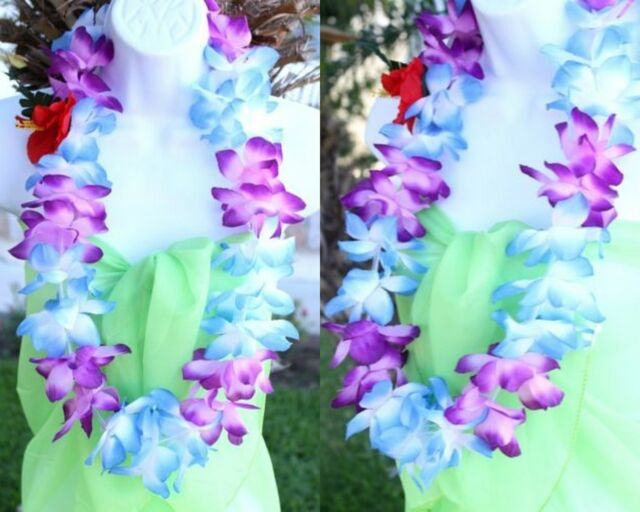 fancy item lei tropical necklace dress garland luau theme beach leis hawaiian flower party