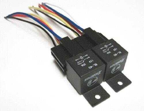 2pk 12v 40a spdt bosch style relays 5 wire sockets 40. Black Bedroom Furniture Sets. Home Design Ideas
