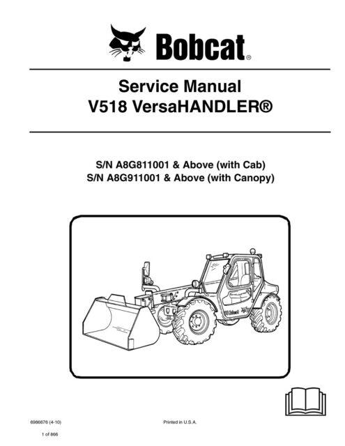 bobcat v518 telehandler service manual shop repair book 3 part rh ebay com Bobcat Tracks in Snow Bobcat VersaHandler