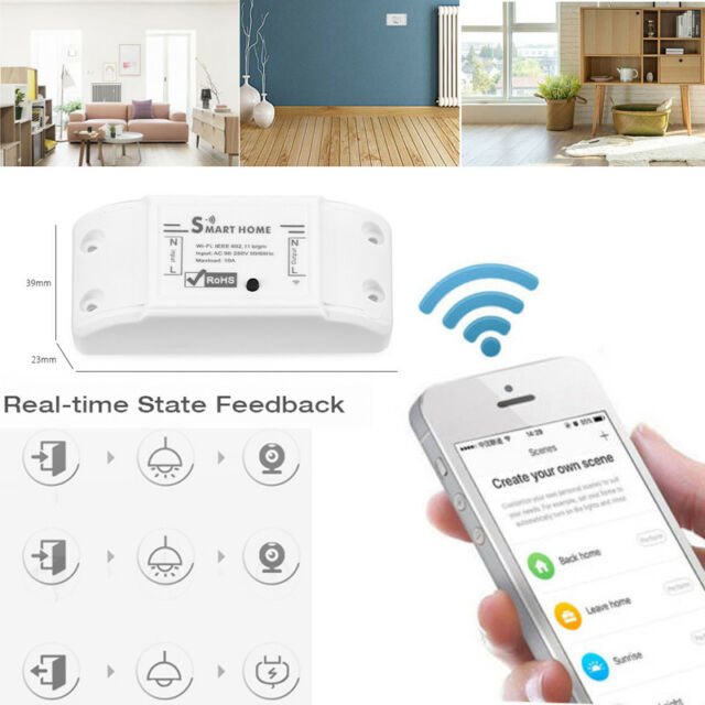 wireless smart switch module remote control wifi fit smartphone for ios android ebay. Black Bedroom Furniture Sets. Home Design Ideas