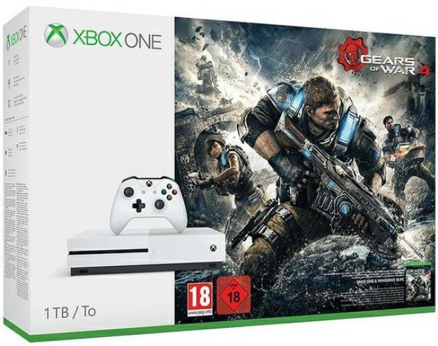 XBOX ONE S - MICROSOFT - 1TB - INCLUSO FIFA 18 + GEARS OF WAR 4 CONSOLE OFFERTA