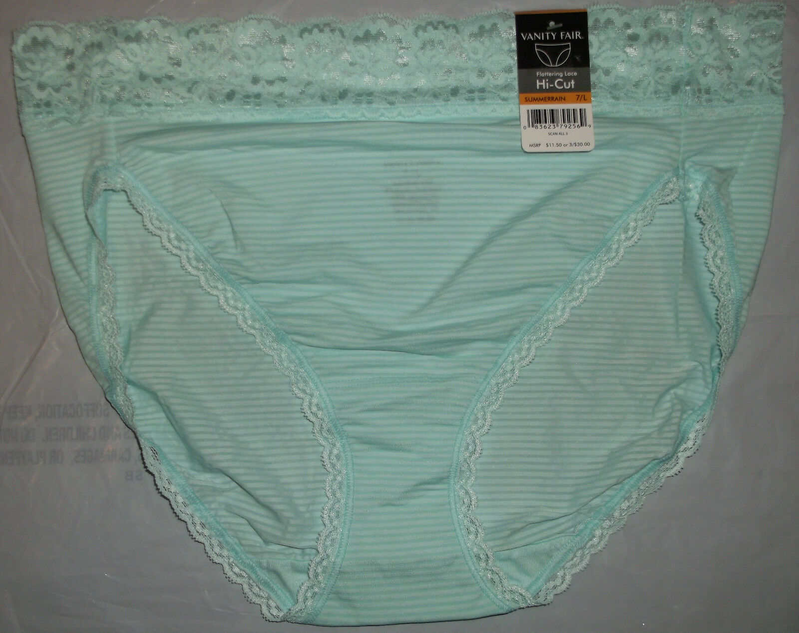 Vanity Fair Flattering Lace Hi cut Panty Panties 6 M 7 L 8