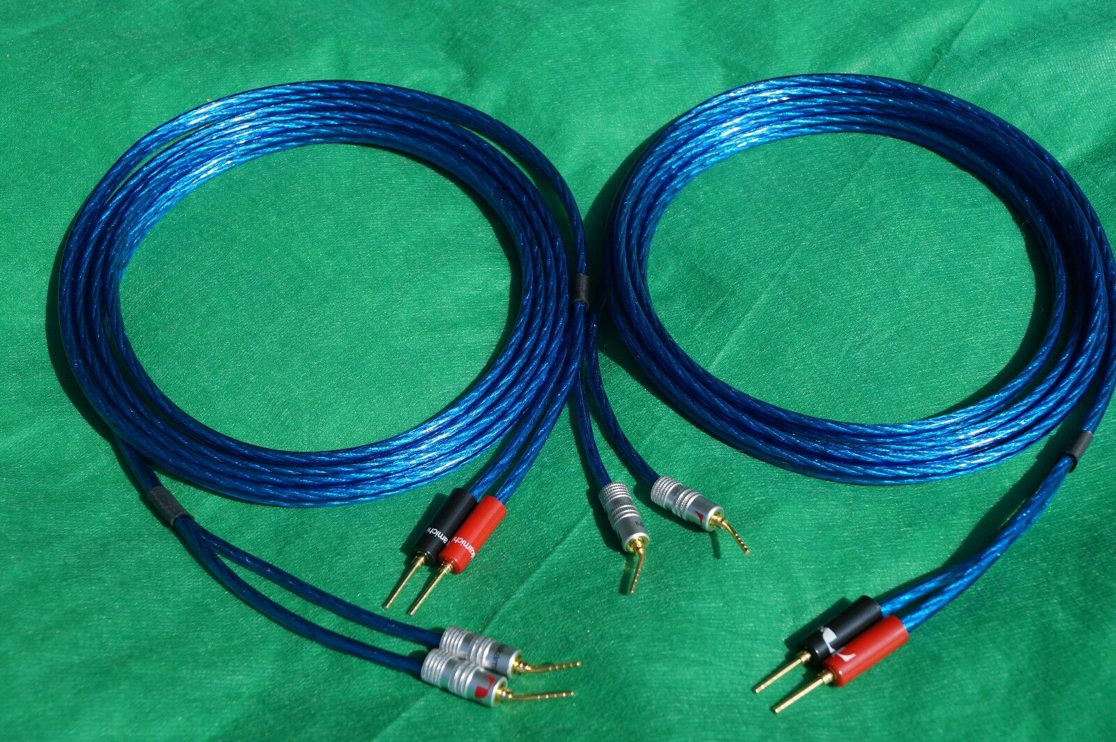 Samurai True 10 Gauge Wire Speaker Cable to Angle Pin Plugs Pair 3 ...