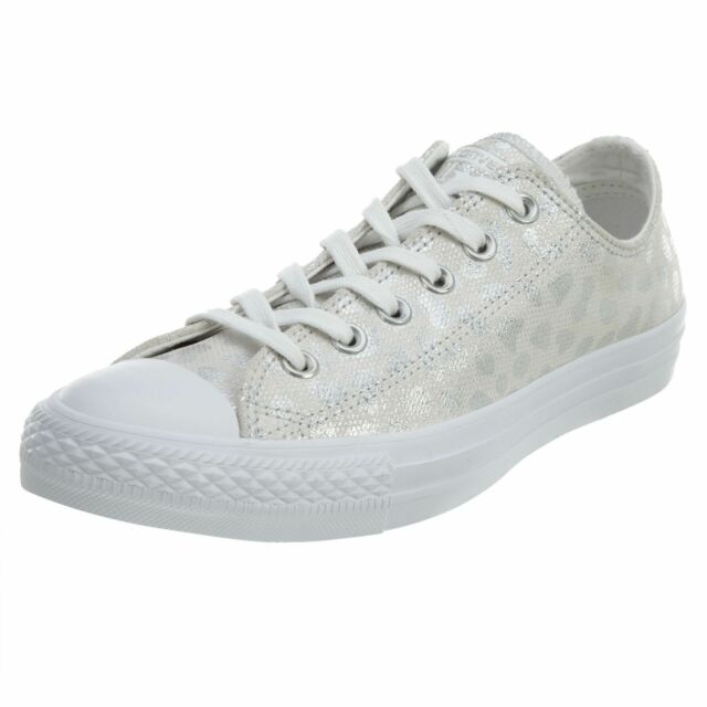 13d3d89510 Converse Ct All Star Ox Womens 555812c Silver Animal Glam Print ...