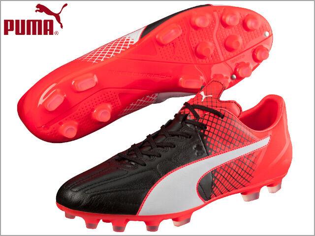 Puma Evospeed 3.5 Lth Ag Scarpa da Calcio Nero Schwarz black puma White Red b