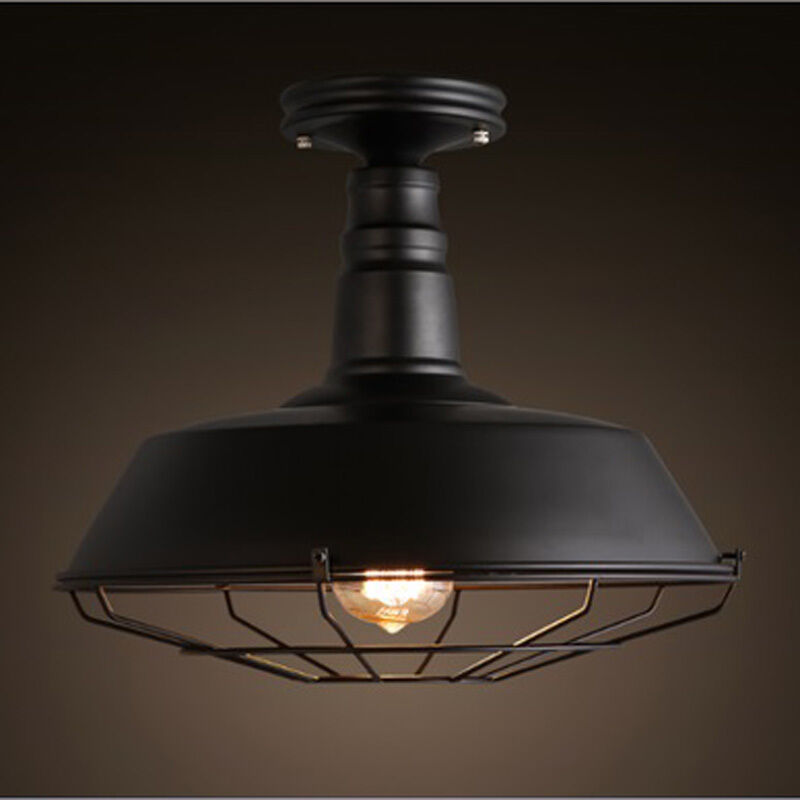 cage pty flush small lights light shop ceiling fittings mount brass ltd edison globes flushmount