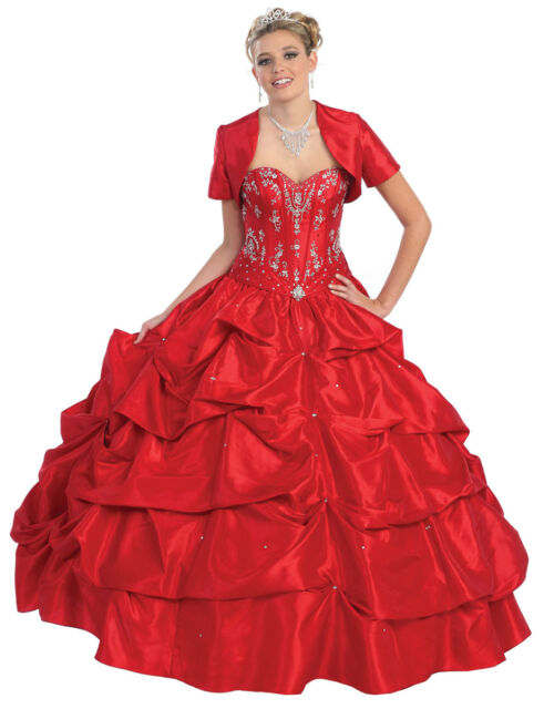 Quinceanera Sweet 16 Debutante Gowns Pageant Wedding Military Ball ...