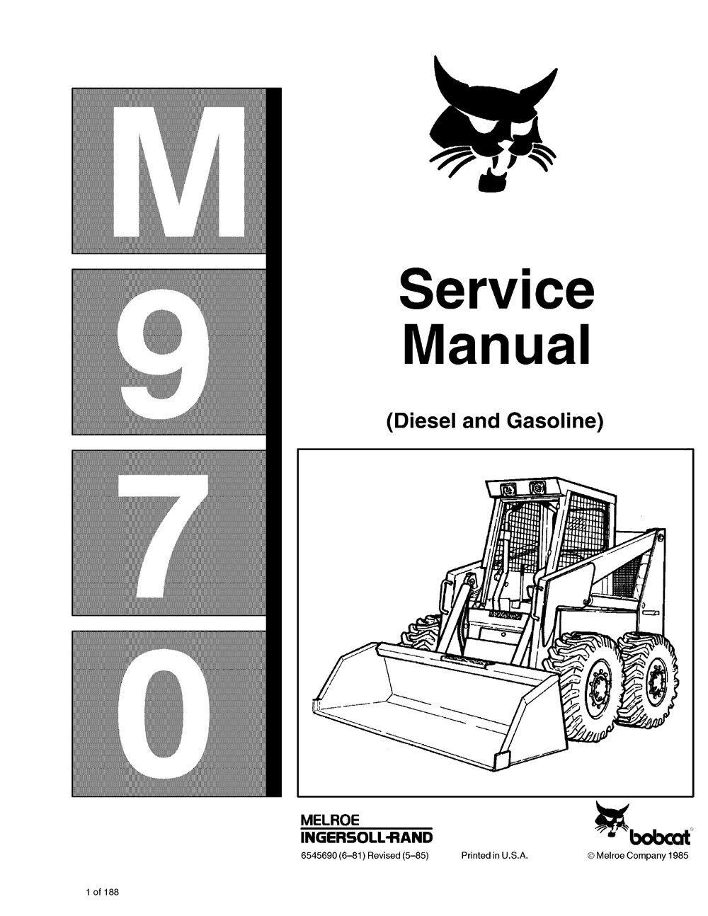 bobcat 970 skid steer loader service manual shop repair book 6545690 rh ebay com Bobcat Parts 463 Bobcat Repair Manual PDF