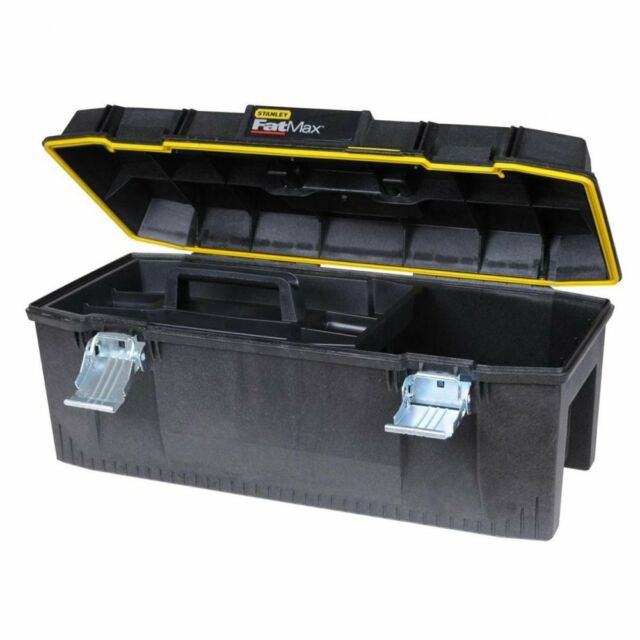 """NEW Stanley FatMax 23"""" 580mm Waterproof ToolBox/Tool Box Case + Tote Tray 194749"""