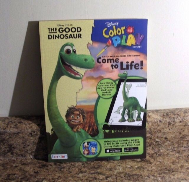 Disney The Good Dinosaur Color And Play Book Free App Coloring Activities NEW
