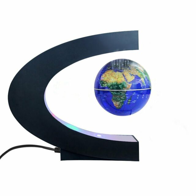 Magnetic levitation floating world map globe c shape base 3 magnetic levitation floating world map globe with c shape base 3 rotating gumiabroncs Image collections