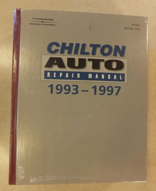 1993 1997 chilton s auto repair manual collector s edition 7919 ebay rh ebay com DIY Car Repair Manuals Auto Repair Manuals Online