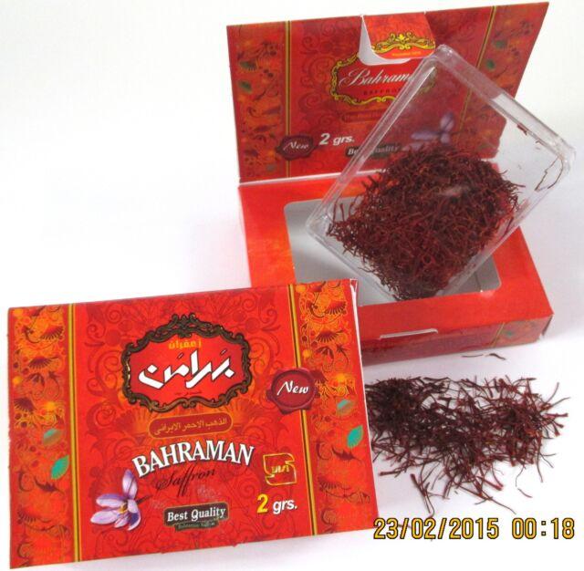 2 x 2g safranfäden Best quality v. safrancenter Bah. ovp 伊朗藏红花 vakuum saffron