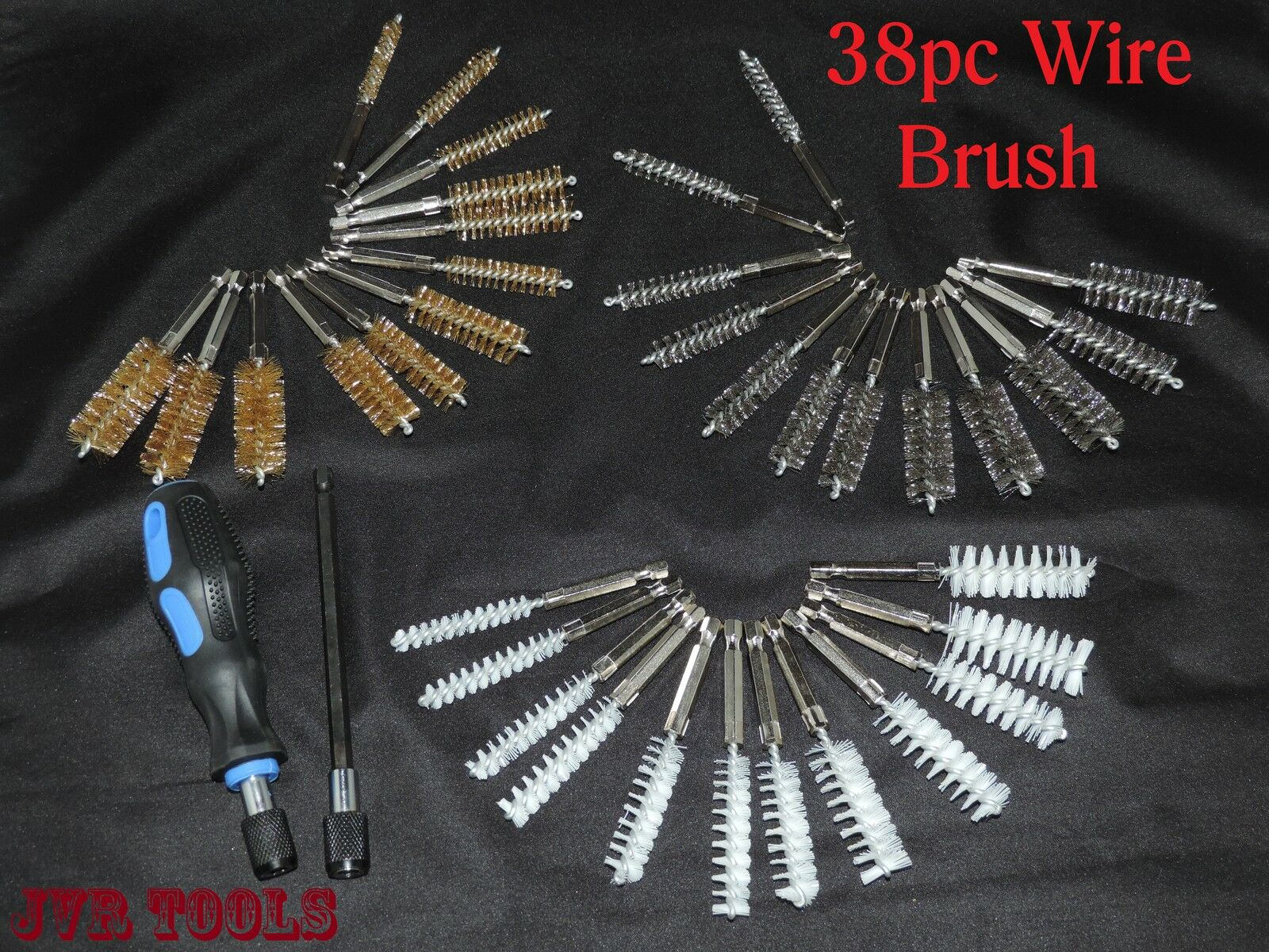 38pc Industrial Quality Wire Brush Extra Long Reach Pipe Abrasives ...