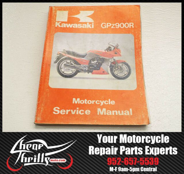 oem 84 91 kawasaki gpz900r factory service manual shop gpz 900 rh ebay com Auto Repair Manual Dodge Factory Service Manual