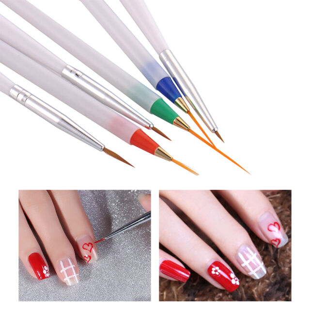 6 Suit Nail Art Supplies Brush Nail Painting Pen Pearl Tools | eBay