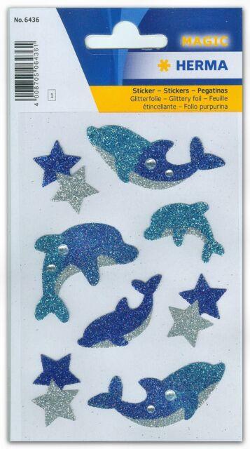 """Sticker Schmucketiketten """"Delphine"""", Diamond glittery, HERMA Magic 6436"""