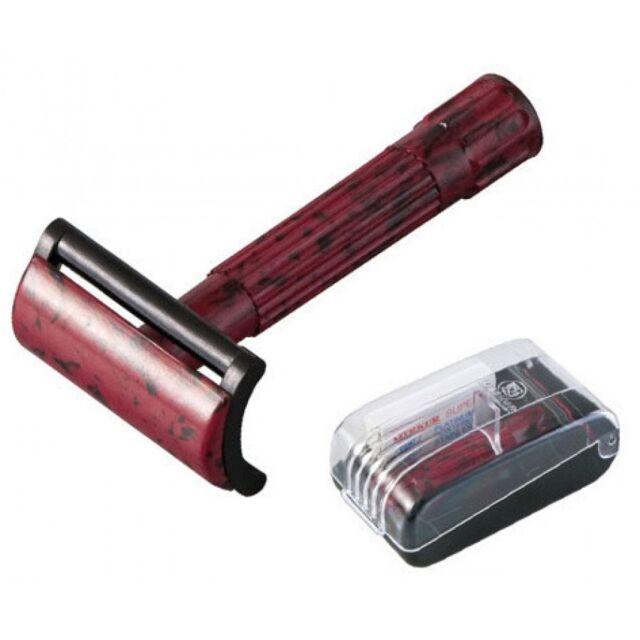 Merkur-razor Safety Razor Bakelite Straight Cut Red/black | eBay