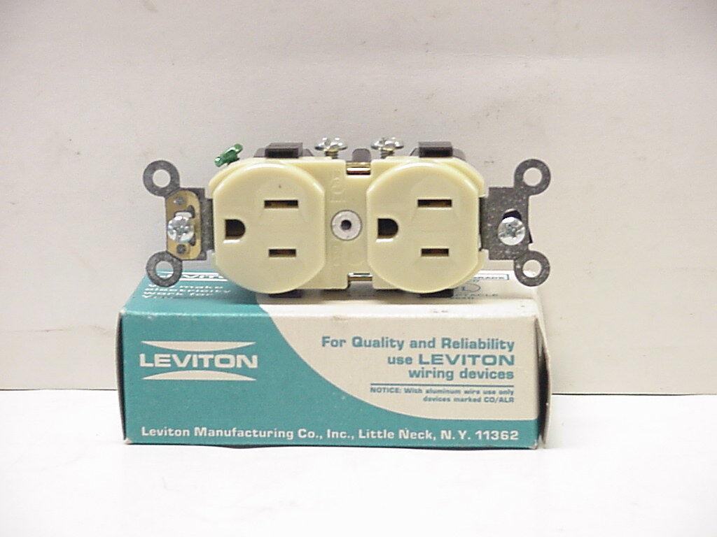 Leviton 2 Pole 3 Wire 15 Amp 125 V Receptacle Ivory 5014-i | eBay