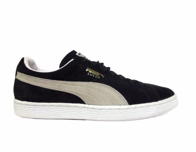Puma Men's SUEDE CLASSIC PLUS Shoes Black/White ...