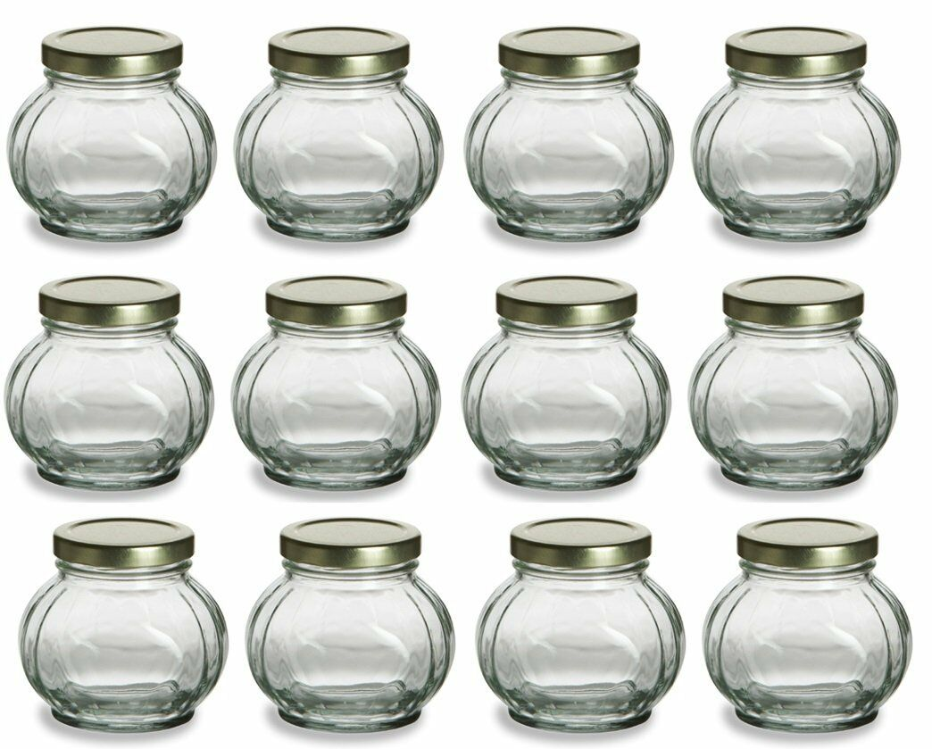 Nakpunar 12 Pcs 8 Oz Round Glass Jars for Jam Honey Wedding Favors ...