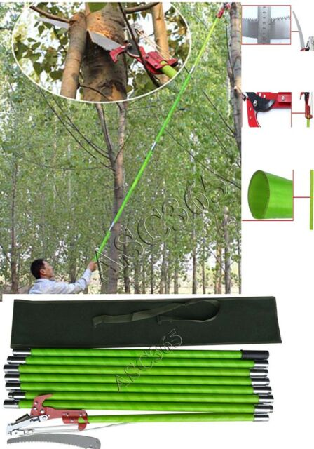 26 foot length tree pole pruner saw garden tools loppers hand saws 26 foot tree pole saw with scissor cut home garden yard saw insulation pole saw greentooth Gallery