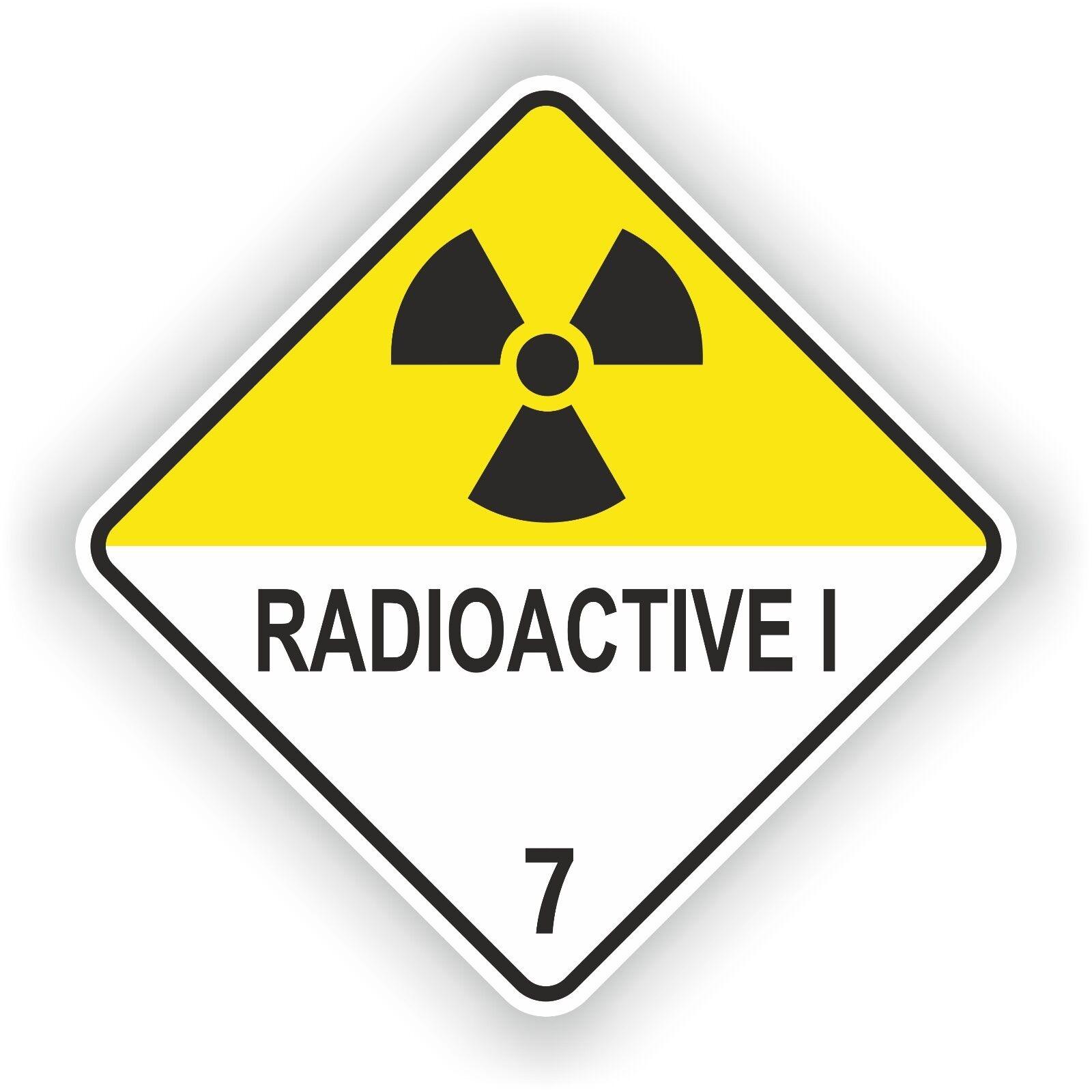 1x Radioactive I 01 Warning Sticker Atomic Nuclear Radiation Symbol