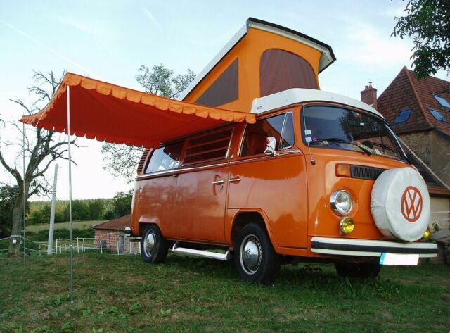 Top Quality Vintage Sun Canopy For VW Camper Van Caravan Motorhome Orange C8539P