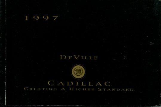 1997 cadillac deville vehicle owners manual book handbook mk2697 ebay rh ebay com 97 cadillac deville repair manual 1996 Cadillac DeVille