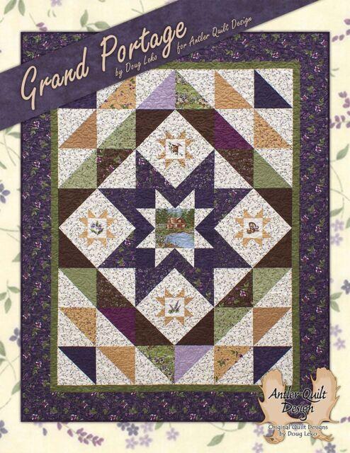 Grand Portage Quilt Pattern Book 7 Projects Doug Leko Antler Quilt ... : antler quilt design - Adamdwight.com