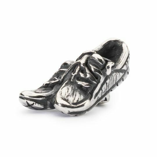 Trollbeads Original Bead 925 Silber Laufschuhe TAGBE-20148 Power Runners Charm