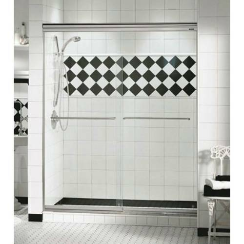 44 Opulence 1 4 MAAX Two Panel Frameless Glass Sliding Shower Door ...