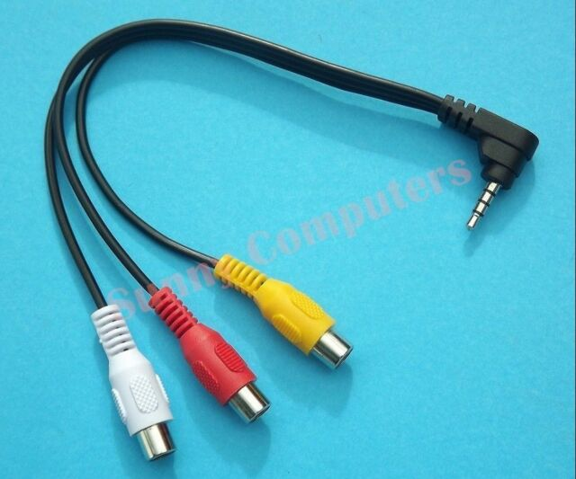 Angle Plug 3.5mm Male to 3rca Female Audio Video Adapter Cable for ...