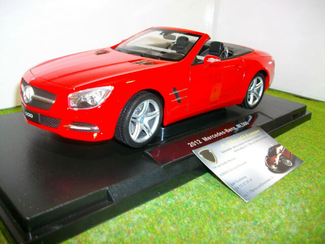 MERCEDES BENZ SL 500 cabriolet 2012 Rouge 1/18 WELLY 18046CW voiture miniature