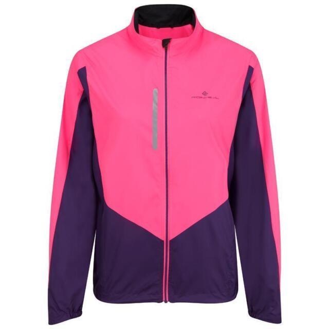 Women Clothing Jackets Fluo Pink/Wildberry Ronhill Vizion Windlite Running Jacket