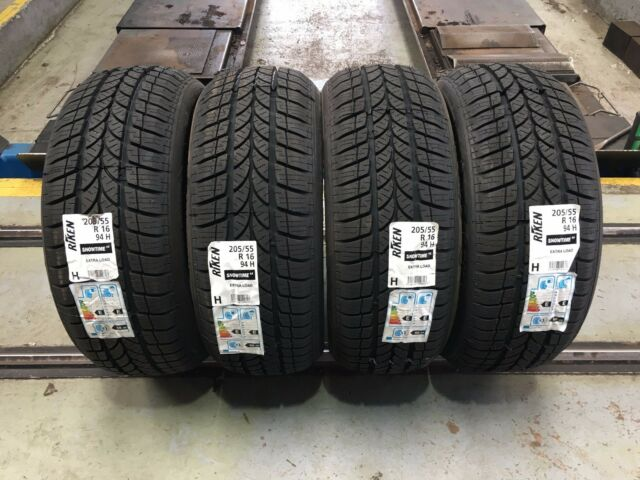 x4 205 55 16 20555r16 94h riken snowtime winter tyres made by michelin