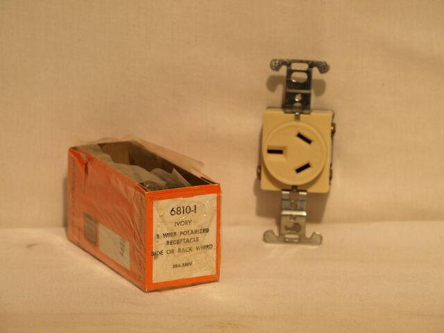 Pass & Seymour 6810-i Ivory 3 Wire Polarized Receptacle 20a 250v   eBay