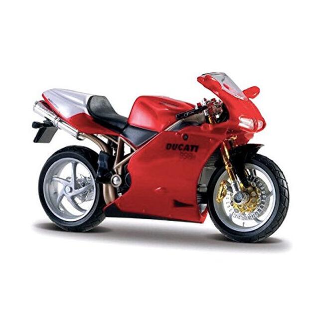 Bburago 51030 Ducati 998R rouge échelle 1:18 Modèle de moto NEUF!°