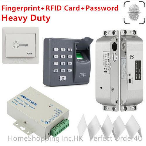ZKTeco Fingerprint+125KHz RFID Door Access Control System+Electric Mortise Lock  sc 1 st  eBay & Zkteco Fingerprint 125khz RFID Door Access Control System Electric ...