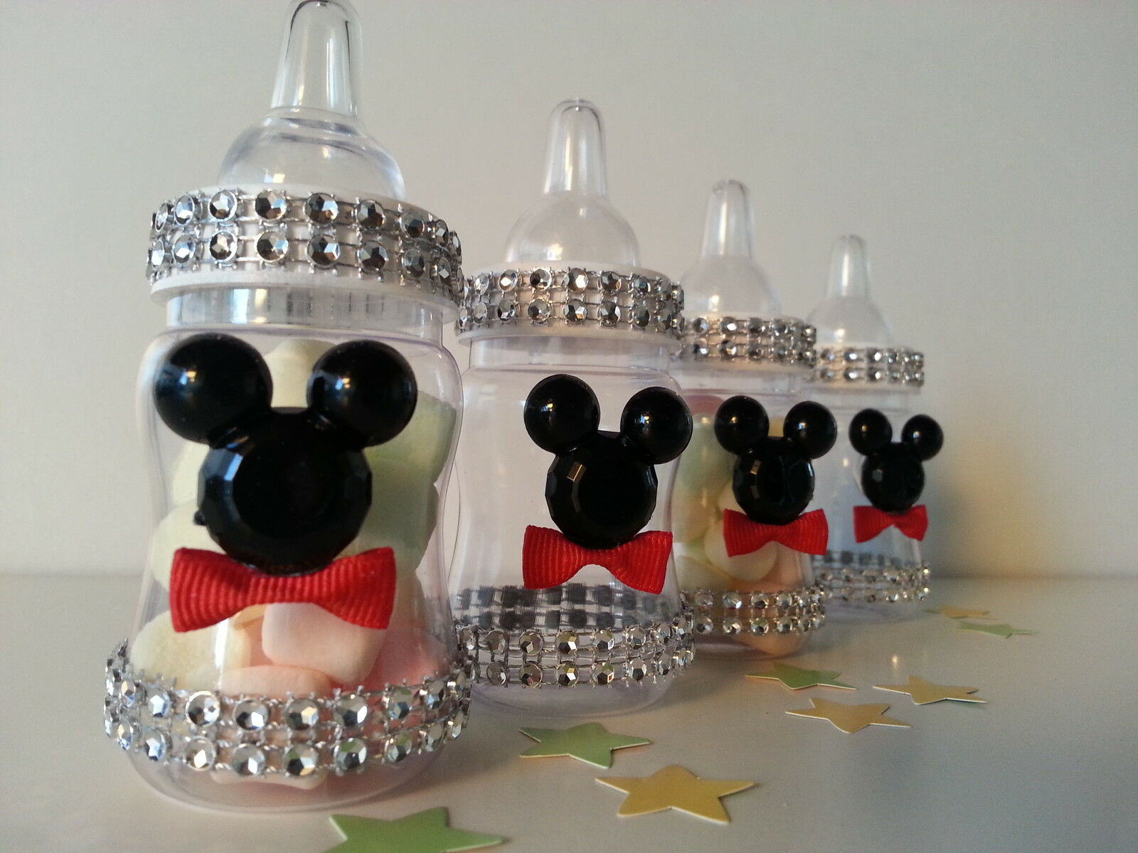 Mickey mouse baby shower decorations home design ideas 12 mickey mouse fillable bottles baby shower favors prizes game boy decorations ebay junglespirit Images